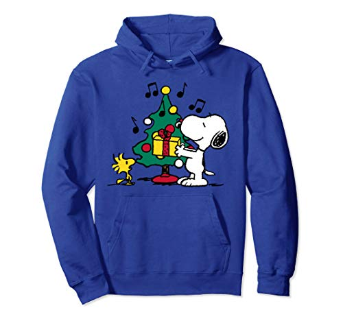 Peanuts Snoopy and Woodstock Feiertags-Weihnachtsbaum Pullover Hoodie