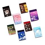 WJGJ Washi Sticker Set (8 Set, 400 Stück) für Journaling, Scrapbooking Tagebuch Planer Album Tagebuch, Notebook, Kartenherstellung Laptop Journaling