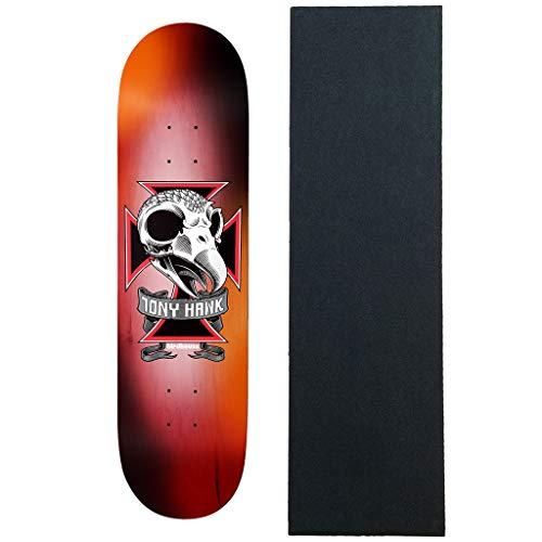 "Birdhouse Skateboard Deck Tony Hawk Skull 2 8.25"" x 31.5"" with Grip"