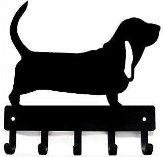 The Metal Peddler Basset Hound Dog - Key Hooks & Holder - Small 6 inch Wide