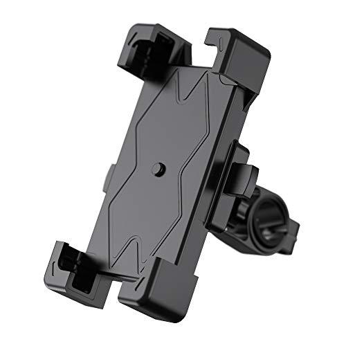 自転車 スマホ ホルダー 振り止め 防水 防振 スマートフォンGPSナビゲーション 固定ブラケット(最新進化版1秒でロック)に適用iphone7 8 X 11 xperia HUAWEI android 多機種対応、360度回転 操作簡単 頑丈 耐久性に強い(ホワイト)