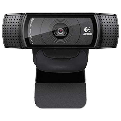 Logitech C920 1808p HD Pro Webcam Featuring Auto-Focus and Omni-Directional Dual Stereo Mics, Black (Non-Retail Packaging)