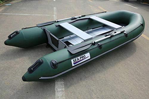 Topashe Bote Inflable de Bomba de Mano,Barco de Asalto Engrosado, Bote de Goma Inflable-Verde_3.3m,Bote Inflable Balsa de