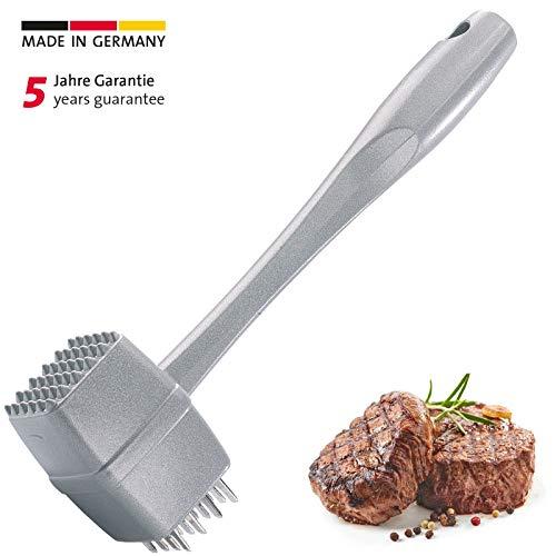Westmark Fleisch- und Steakhammer, Länge: 23,8 cm, Aluminium-Druckguss, Rostfrei, Steakmaster, Silber, 62202260