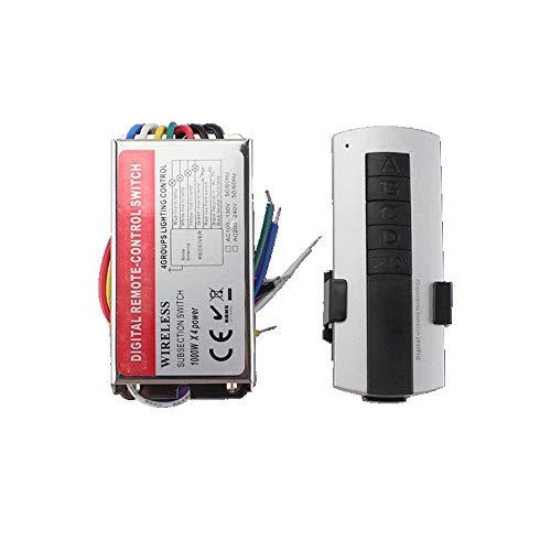 Liyuzhu LED Tira Luz Dimmer Dimmer 4 Grupos Lámpara LED Interruptor de Control Remoto 110V / 220V Grupo de Cuatro Canales Control Remoto Controlador de luz LED Sincrónico