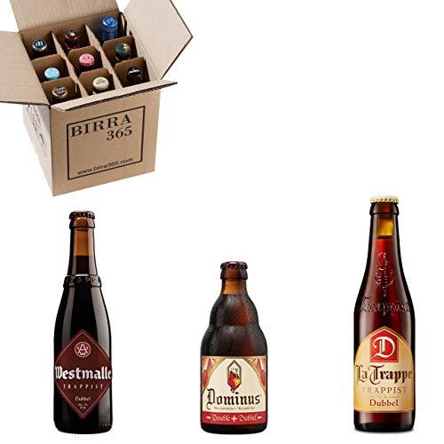 Caja 9 cervezas tostadas especiales. Una selección de cervezas doubles incluyendo trapenses para disfrutar de sabores intensos.