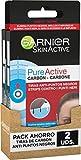 Garnier Skin Active Tiras Anti-Puntos Negros con Carbón Vegetal, Elimina Impurezas y Puntos Negros,...