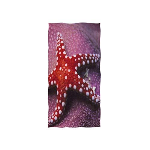 WTZYXS Hoe Zeester zien met oogvlekken Handdoeken Ultra Zacht Katoen Gezicht Handdoeken voor Thuis Keuken Badkamer Spa Gym Zwembad Hotel Gebruik 12