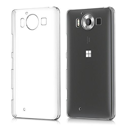 kwmobile Cover Compatibile con Microsoft Lumia 950 - Custodia Rigida Trasparente per Cellulare - Back Cover Cristallo in plastica - Trasparente