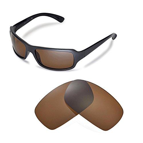 Walleva Ersatzgläser für Ray-Ban RB4075 61mm Sonnenbrille - Mehrfache Optionen (Braun - polarisiert)