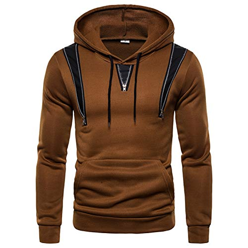Mr.BaoLong&Miss.GO Autumn and Winter Men's Sports Sweaters European and American Men's Sports Casual Zipper Decorative Hooded Sweaters
