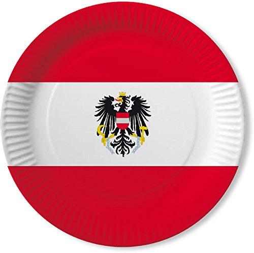 DH-Konzept 10 Teller * ÖSTERREICH * für Mottoparty, Geburtstag oder Länderparty Austria Alpen Pappteller Partyteller Party Set