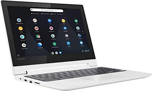 "Lenovo Chromebook C330 2-in-1 11.6"" Convertible Touchscreen Laptop Computer, Quad-Core MediaTek MT8173C, 4GB RAM, 32GB eMMC, Online Class Ready, Chrome OS, White, BROAGE 3-in-1 Stylus 32GB Flash Drive"