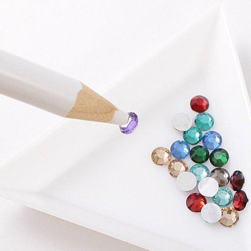 Asien strass sélecteur crayon Nail Art bijou bijou Setter stylo outil cire cueillette de cristal