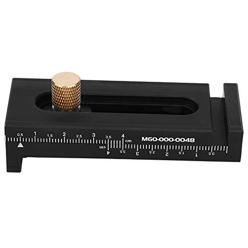 Herramienta de medición - Calibrador de marcado de latón de aluminio negro Regla de medición de profundidad Regla de línea de carpintería