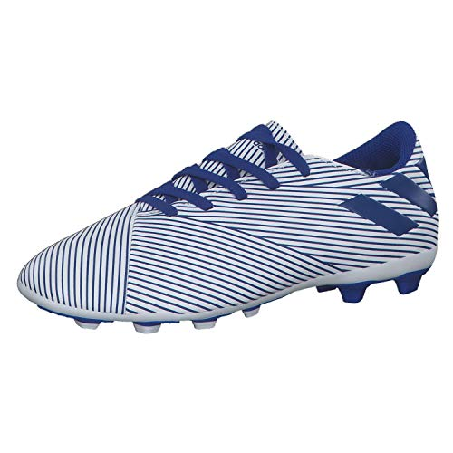 adidas Nemeziz19.4 FxG Niño, Bota de fútbol, White-Team Royal Blue-Black