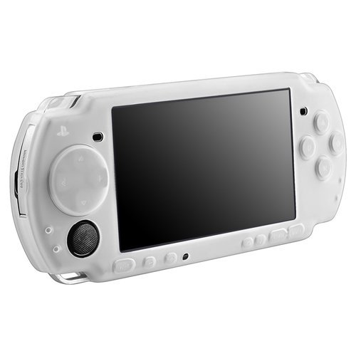 BEYLEG Clear white Silicone Skin Case Compatible With Sony PSP 3000, Clear White