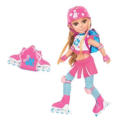 F Fityle 17 Zoll Rollschuh Puppe Ankleide Spielzeug Geschenkset Mädchen Spielzeug ab 3 Jahren