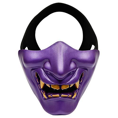 FANG Máscara del Horror, Halloween Fantasma máscara de la Cara, los apoyos Mitad de la Cara Que se Puede Usar en el Escenario (púrpura)