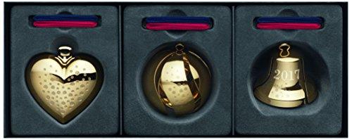 Georg Jensen 2017 Heart/Bell/Ball Gift Set, Brass, Gold, 10...