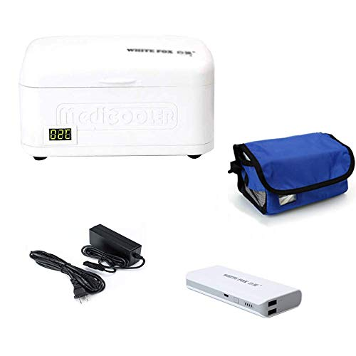 1yess Portable Insulin refrigerator With power bank for Travel Car Medicine Refrigerator 2~8℃ Medical Insulin Travel Case (Size : Bag+charging treasure)
