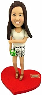 Model D22 Fully Personalized Bobble Head Clay Figurines Based on Customers' Photos