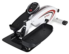 WORKS WITH LOW DESKS - Lowest pedal rotation height available; only 8 inches, Can work with desks as low as 25 inches SMOOTH & QUIET - 8 position magnetic resistance and balanced high velocity flywheel keep the pedal motion smooth and whisper quiet H...