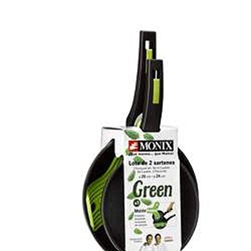 Monix Pack 2 Sartenes y Protector Green 20Cm y 24Cm Forma Redonda...
