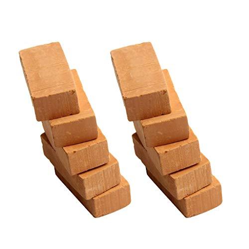 10er-Set Mini Ziegelrot Backsteine Ziegelsteine