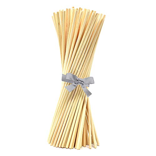 Set of 108 Replacement Rattan Diffuser Reeds 7', Natural | for Use with DIY Diffuser Glass Bottles & Diffuser Refills | Bamboo Sticks for Essential, Fragrance & Aromatherapy Oils | Bulk Buy