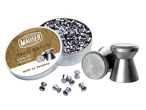 MAUSER Real Match Diabolos 2500St. Luftgewehrmunition/-Kugeln 4,5mm Flachkopf 5x500er Dose