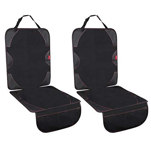 Acomon Autositzauflage, Kindersitzunterlage Autositzschutz Kindersitz, ISOFIX geeignet Sitzschoner rückseite kinder Hundematten zum Schutz vor Kindersitzen, Auto-Sitzschutz Unterlage (2 Pack)
