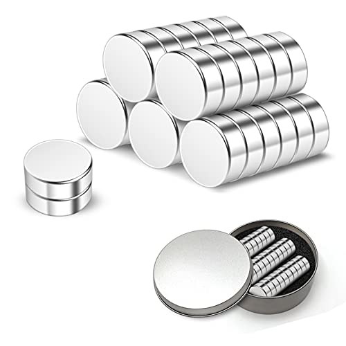 Homcosy Strong Neodymium Magnets, 30 Pack Powerful Permanent Rare Earth Magnets for Fridge, DIY, Scientific, Craft and Office Magnets (12x2mm)
