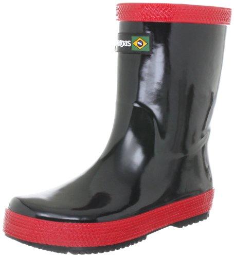 Havaianas Hav. Kids Rain Boots Bottes de pluie mixte enfant - Noir/rouge (Black/Red)N/A BR 35 EU