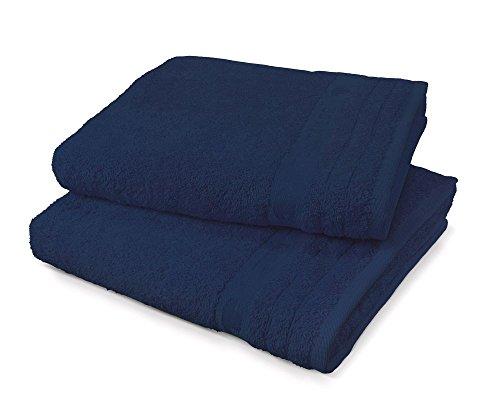 TOM TAILOR Handtuch Uni Basic Towels Blue Stars, 2er-Set Farbe Navy