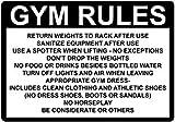 Kysd43Mill Gym Rules Return Hantels Rack After Use Sanitize Schild, Metall-Aluminium-Warnschild,...