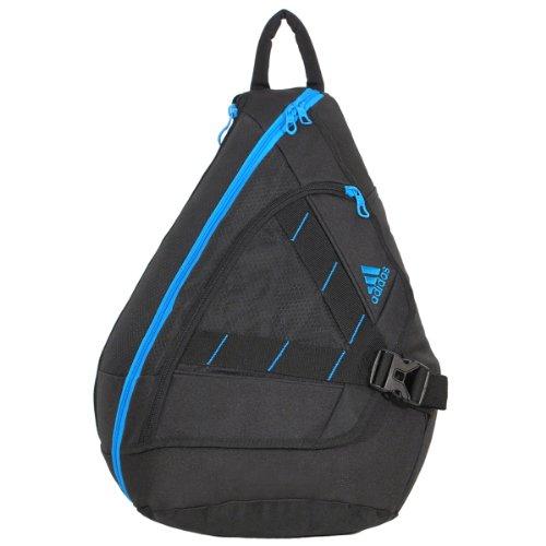 adidas Rydell Sling Backpack, Black/Solar Blue, 20 x 14 x 8-Inch
