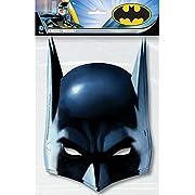 Unique Party - Mascaras de Fiesta - Diseño de Batman - Paquete de 8 (49921)
