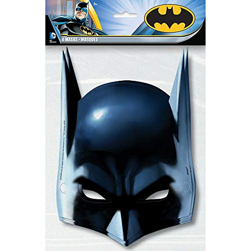 Unique 49921 Batman 8 Papp-Masken,16x23cm