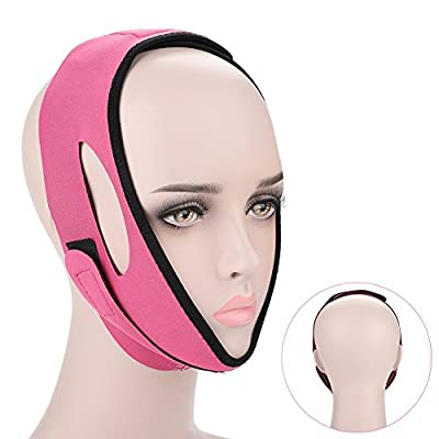 Face Bandage Facial Slimming Mask Facial Belt for Face Care Thin Neck Facelift Double Chin for Women(Rose)