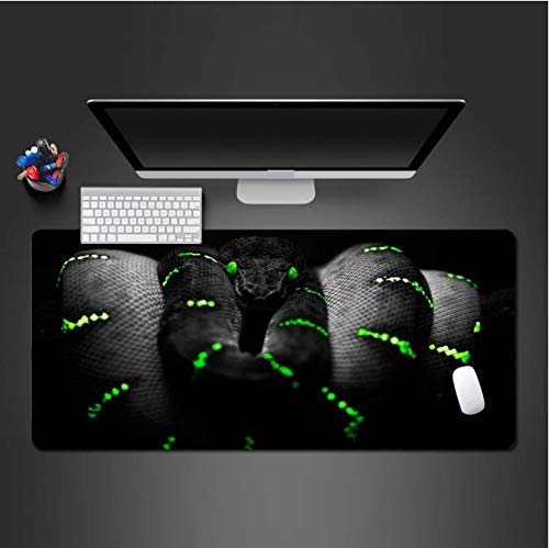 Mouse pad Black Green Snake Mouse Pad Washable Notebook Computer Keyboard Mouse Desk Mats to Gamer Large Desk Mats Computer mat