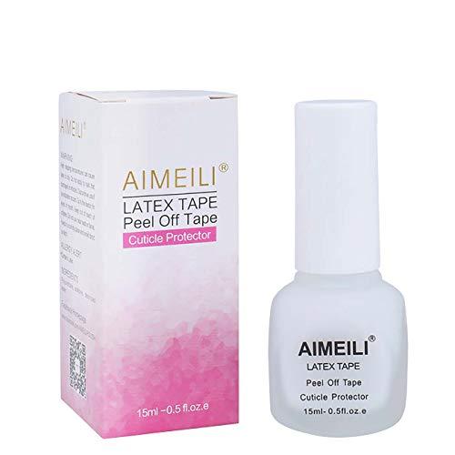 AIMEILI Liquid Latex Peel off Liquid Tape Hautschutz Fingerschutz für Nail Art Liquid Palisade...