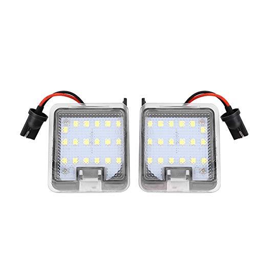 Ymiko Luz de cortesía, 2 Piezas de Espejo retrovisor LED Luz de cortesía Lámpara de Piso Exterior Apta para Focus 2013