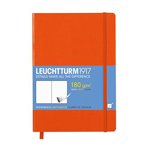 LEUCHTTURM1917 344998 Skizzenbuch Medium (A5), Hardcover, 96 Seiten (180 g/qm), Orange