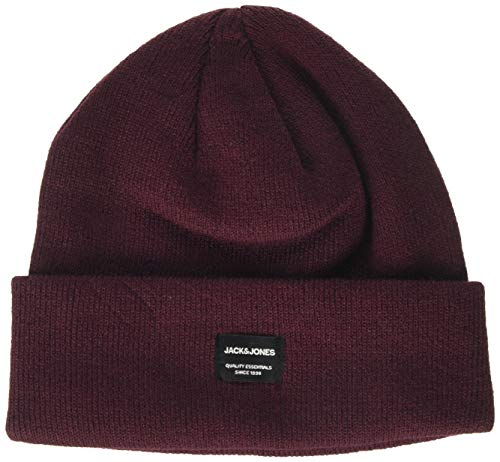 JACK & JONES Herren JACDNA BEANIE NOOS Strickmütze, Rot (Port Royale Port Royale), ONE Size/