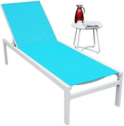 Best Kozyard Modern Full Flat Alumium Patio Reclinging Adustable Chaise Lounge with Sunbathing Textilence