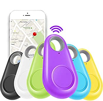 GBD 6 Pack Smart Key Finder Locator GPS Tracking Device for Kids Boys Girls Pets Cat Dog Keychain Wallet Luggage Anti-Lost Tag Alarm Reminder Selfie Shutter APP Control Compatible iOS Android