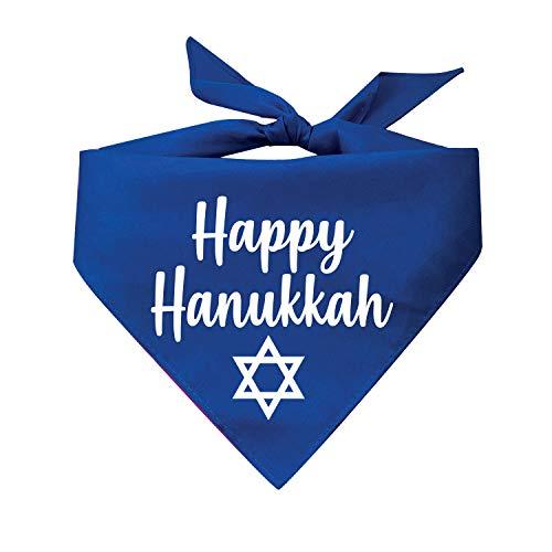 Happy Hanukkah Printed Dog Bandana (Royal)