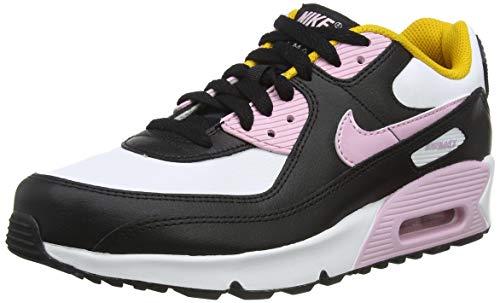 Nike Air Max 90 LTR (GS), Scarpe da Corsa, Black/lt Arctic Pink-White-Dk Sulfur, 40 EU