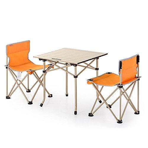 ZXQZ zhuozi Tables et chaises Pliantes Ultralight Chaise de pêche Portable Tables et chaises de Dossier extérieur 3 Ensembles de / 5 Ensembles 2 Couleurs en Option Bureau Pliant